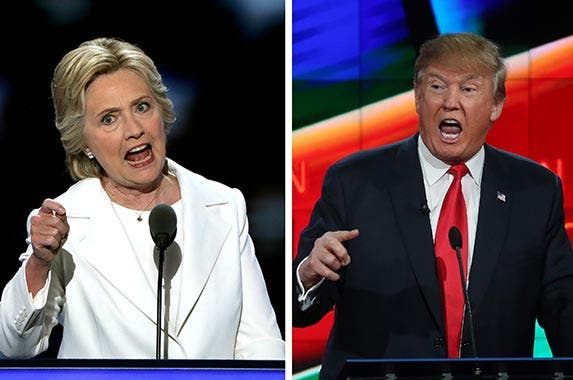 Hillary Clinton & Donald Trump | Alex Wong/Getty Images