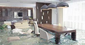Interior of flooded modern house © Zastolskiy Victor/Shutterstock.com