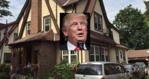 Donald Trump's childhood home for sale | Donald Trump: John Moore/Getty Images; House: Realtor.com