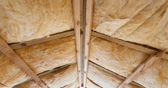 Add fiberglass attic insulation