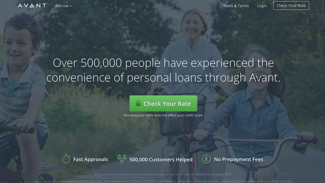 Avant Personal Loans Review | Bankrate.com
