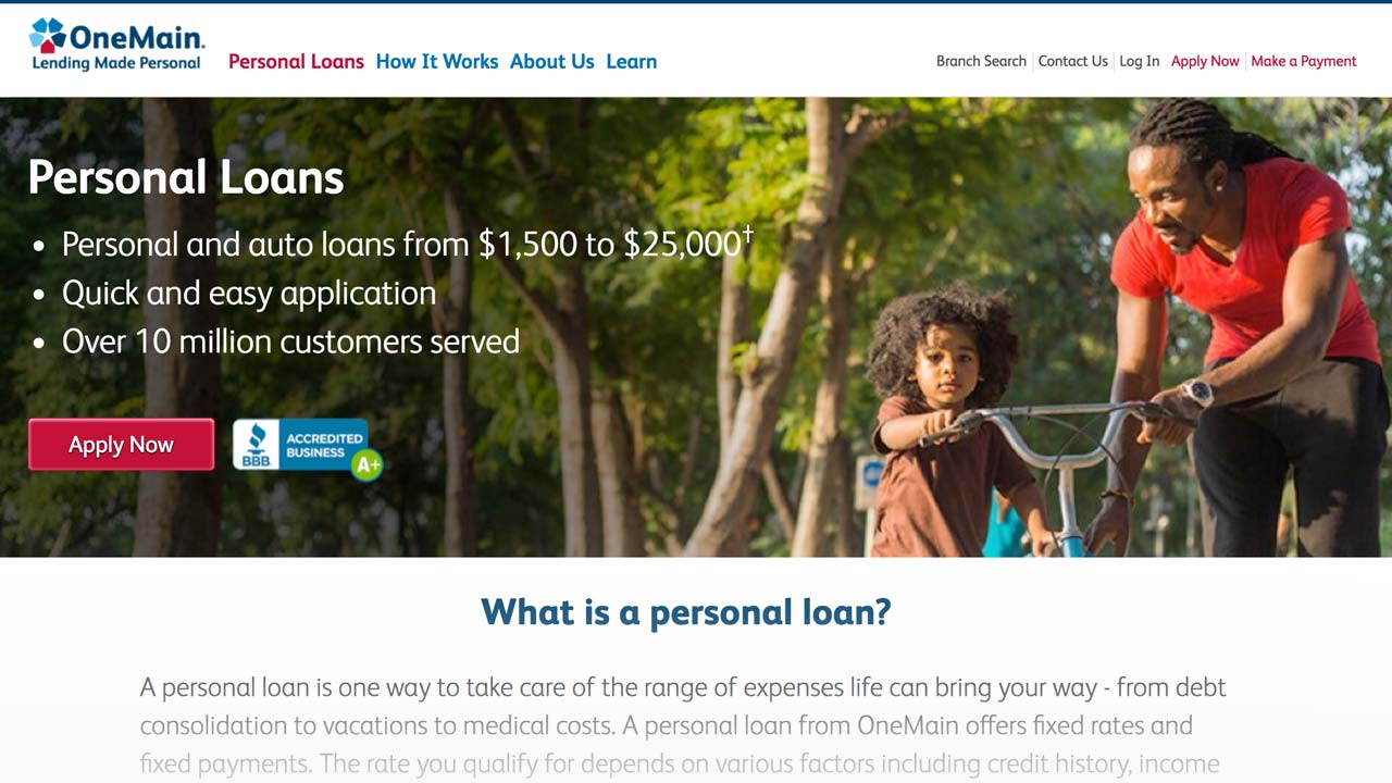 Onemain Financial Loans Bad Credit