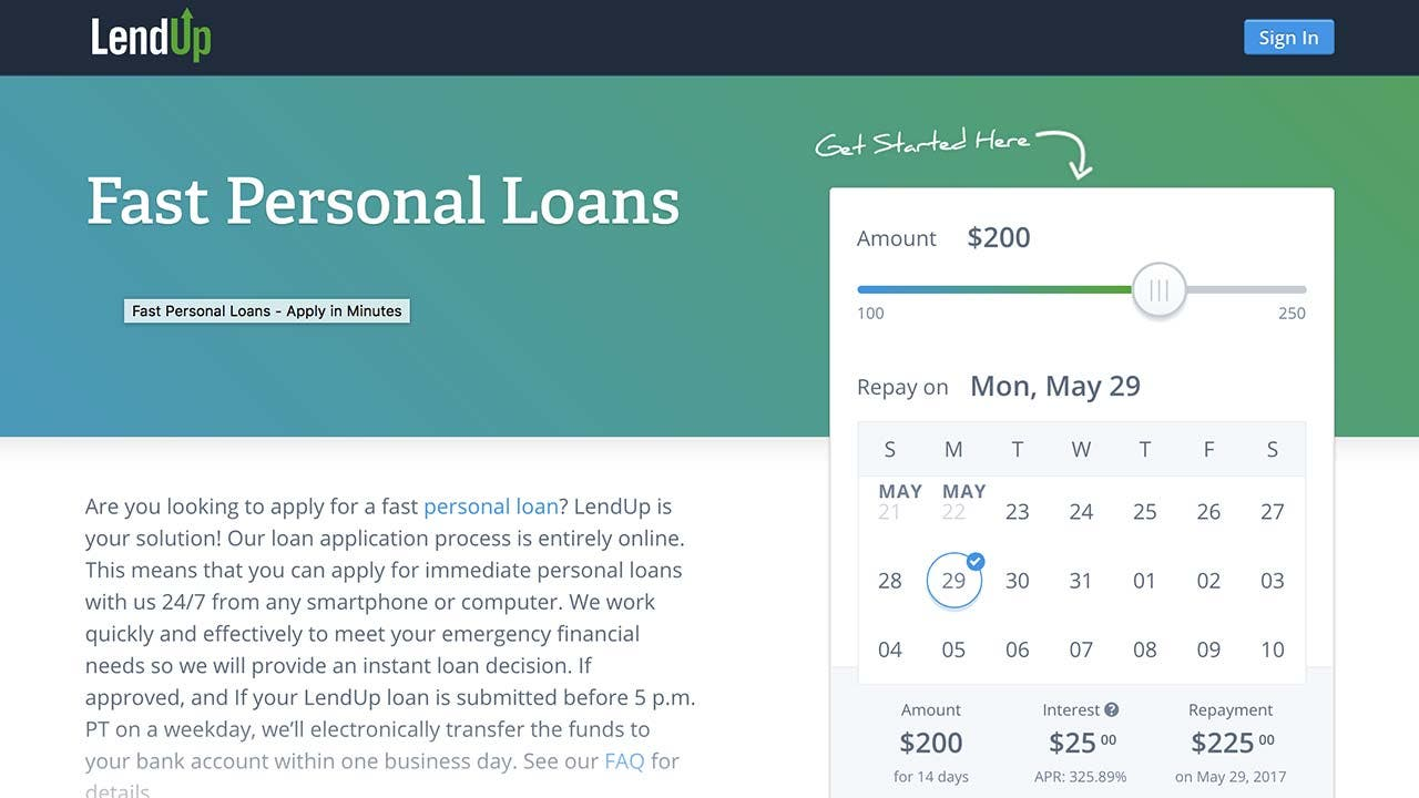 LendUp personal loans: 2017 comprehensive review