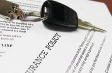 Car insurance policy and keys