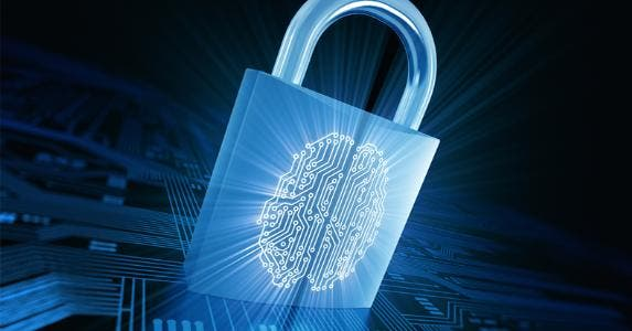 Padlock with fingerprint identification © iStock