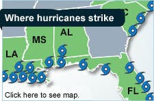 Where hurricanes strike