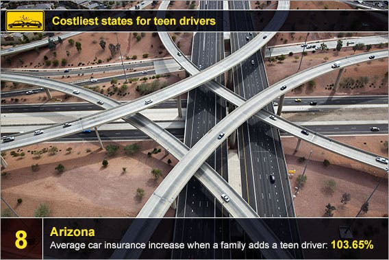 Arizona: © Tim Roberts Photography/Shutterstock.com, accident icon: © Creation/Shutterstock.com