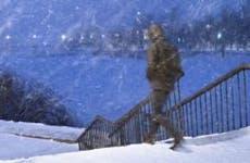 Man walking in snow storm © Belozorova Elena/Shutterstock.com