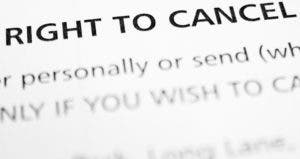 Right to cancel © Zoltan Fabian/Shutterstock.com
