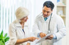 Mature woman consulting with doctor © iStock