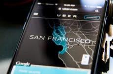 Uber app, San Francisco area © Ted Soqui/Corbis