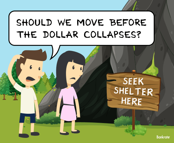 Should we move before the dollar collapses? Seek shelter here © Bigstock