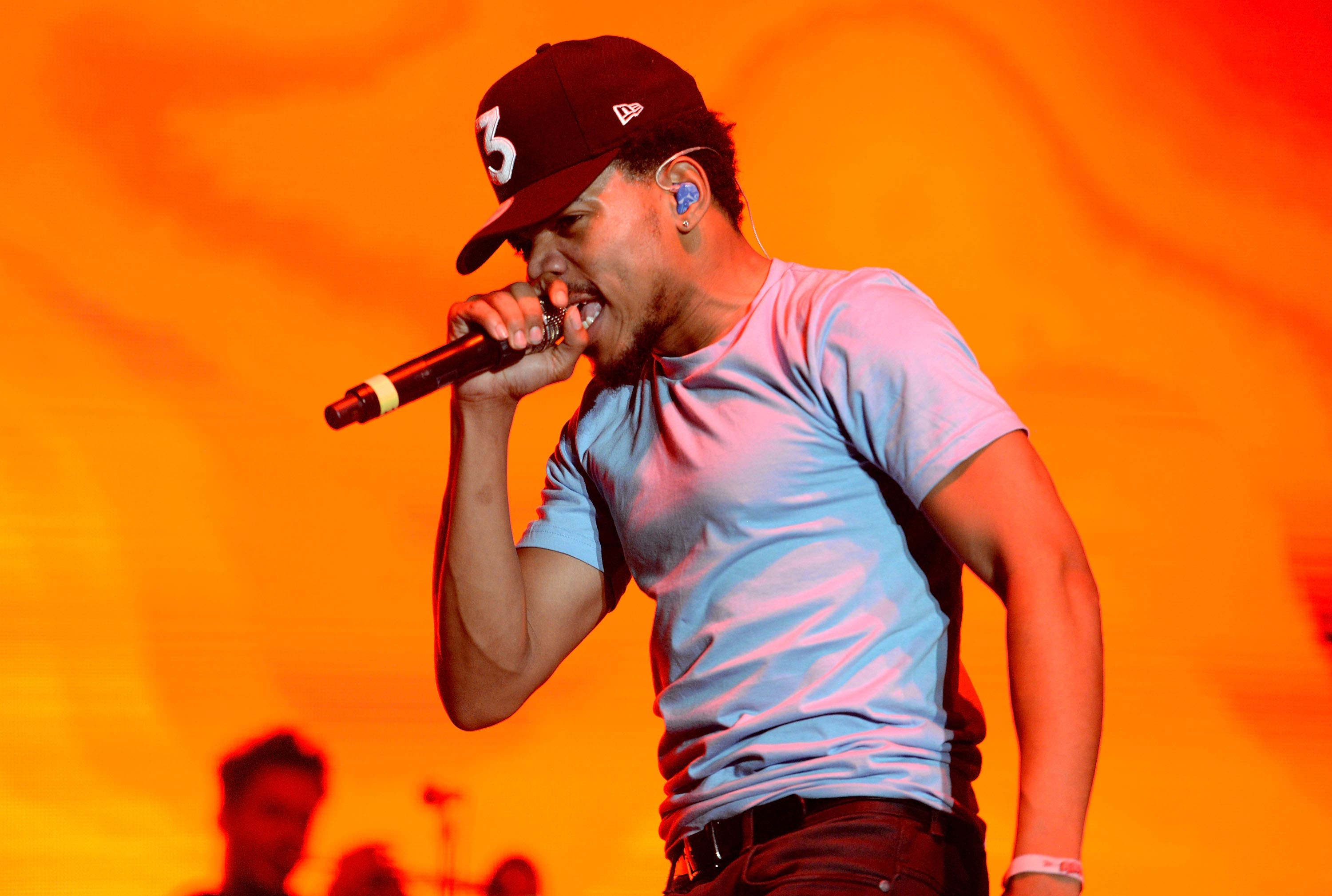 Musician Chance the Rapper performs onstage