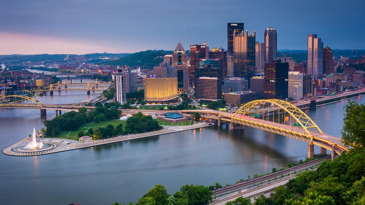 Pittsburgh skyline and bridge