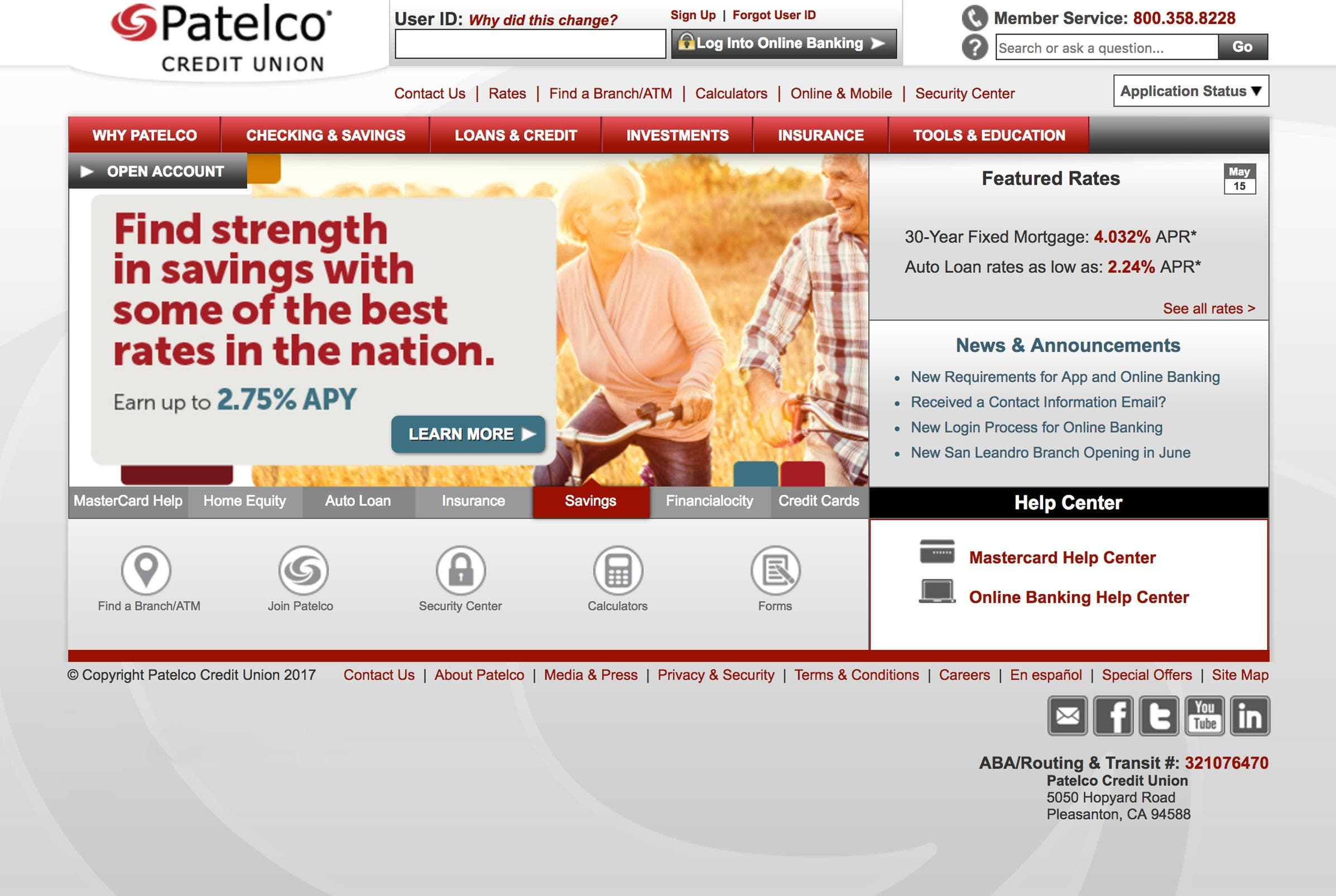 Courtesy of Patelco Credit Union
