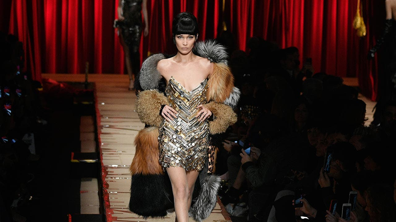 Bella Hadid walks the runway