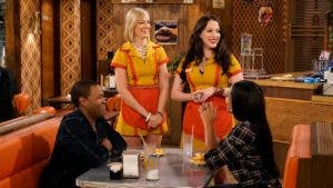 "Kat Dennings and Beth Behrs in ""2 Broke Girls"""