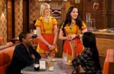 "Kat Dennings and Beth Behrs in ""2 Broke Girls"""