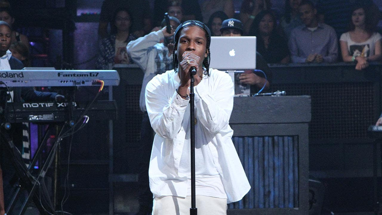 ASAP Rocky singing The Tonight Show