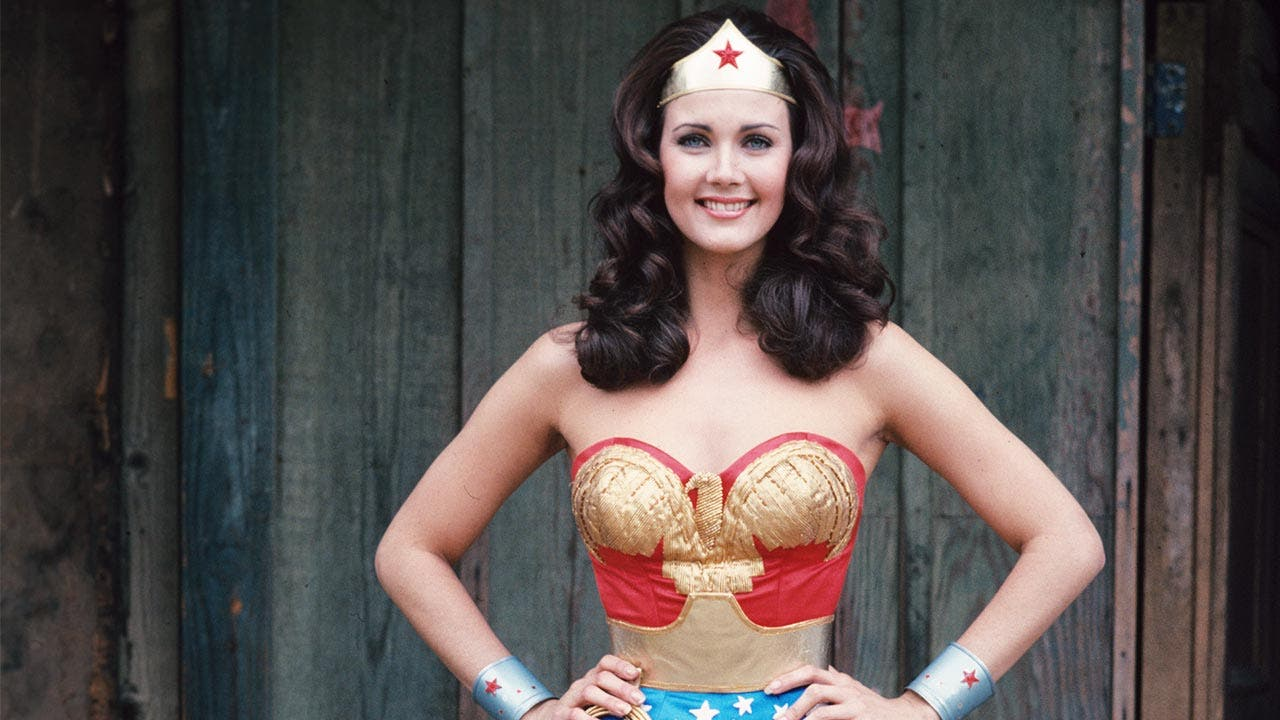 Lynda Carter on set of Wonder Woman