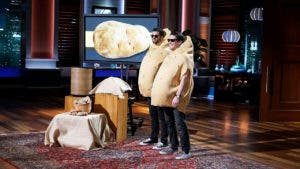 """Contestants showing off an invention on """"Shark Tank"""""""