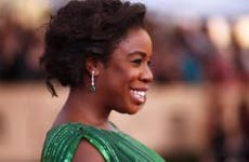 Uzo Aduba on the red carpet at Screen Actors Guild Awards