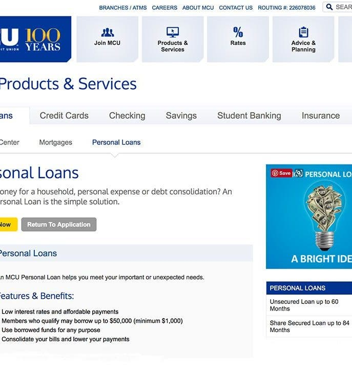 Municipal Credit Union Personal Loans: 2019 Comprehensive Review
