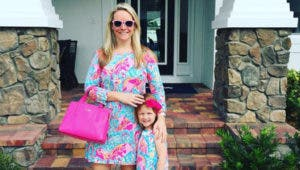 Bankrate Executive Editor Katie Doyle wearing her Lilly Pulitzer outfit