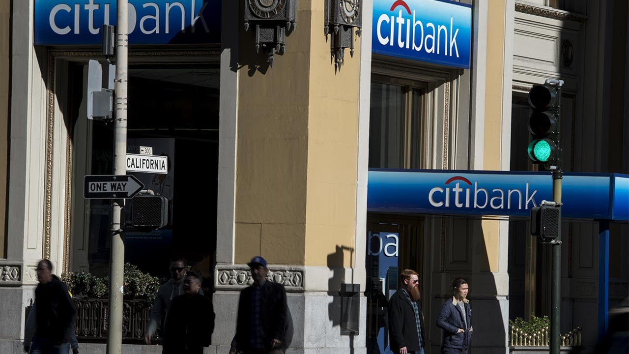 Front of a Citibank building