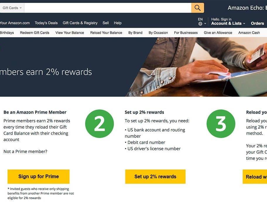 amazon rewards debit card users too - Debit Card Rewards