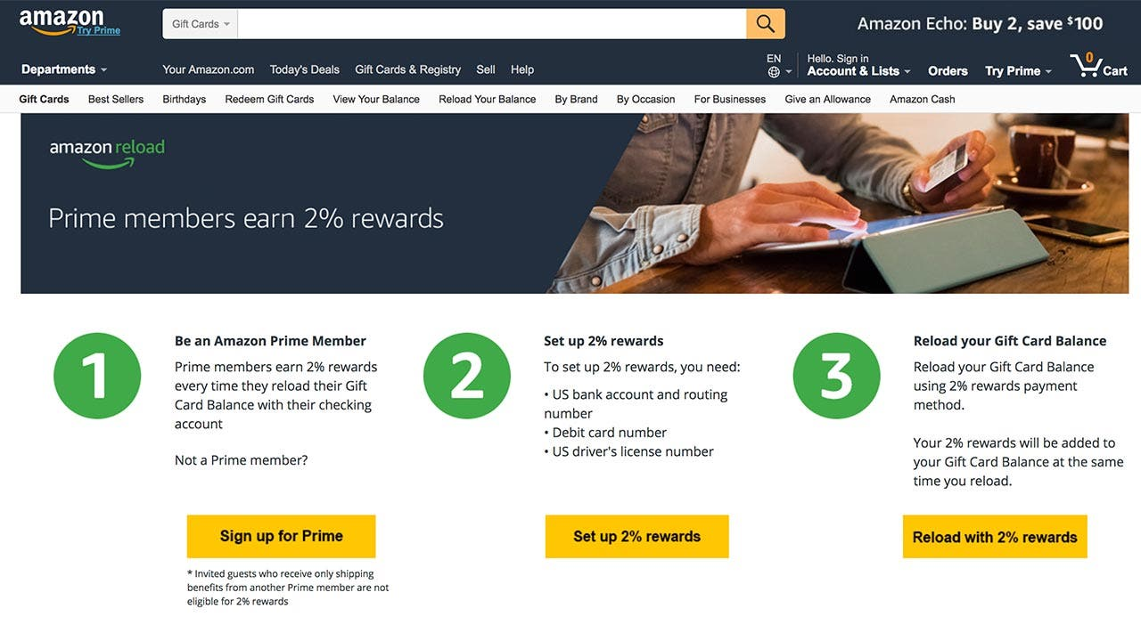 Amazon website image