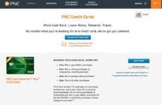 PNC Cash Rewards Visa page