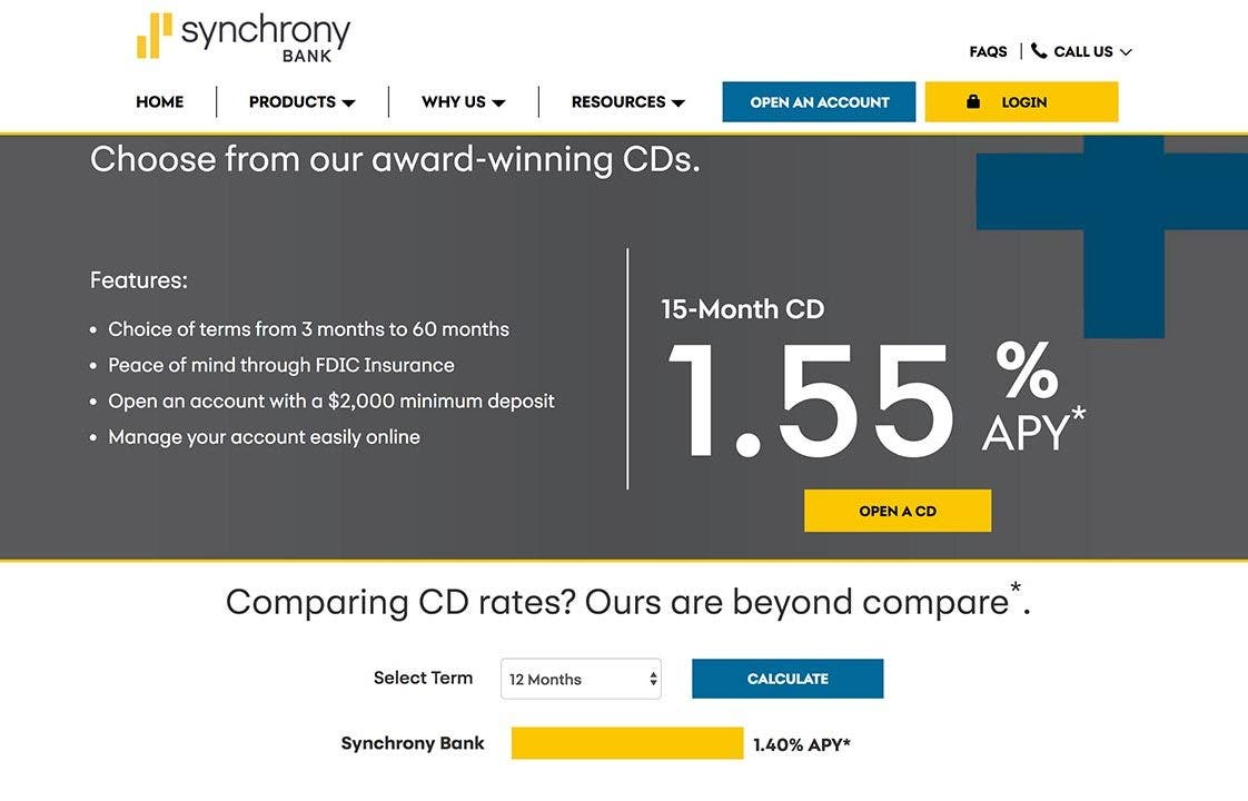 Short-term savings goal? Check out Synchrony Bank's 15-month CD