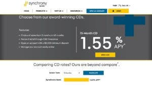 Synchrony Bank website