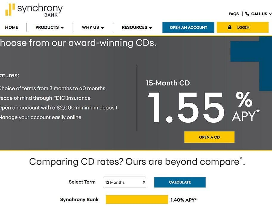 Check Out Synchrony Banks 15 Month Cd