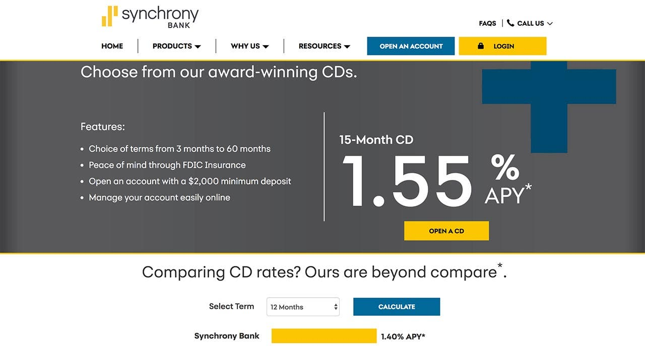 Short-term savings goal? Check out Synchrony Bank\'s 15-month CD