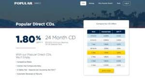 Best 2-year CD rate in the country now offered by Popular Direct