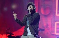Eminem rapping