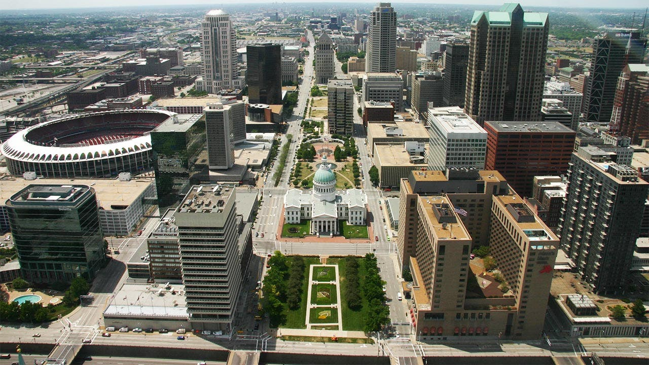 St. Louis and Old Courthouse