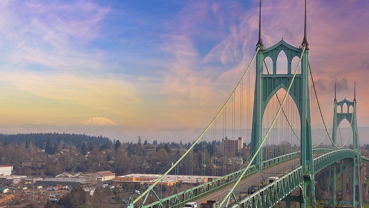 Portland and St. Johns Bridge