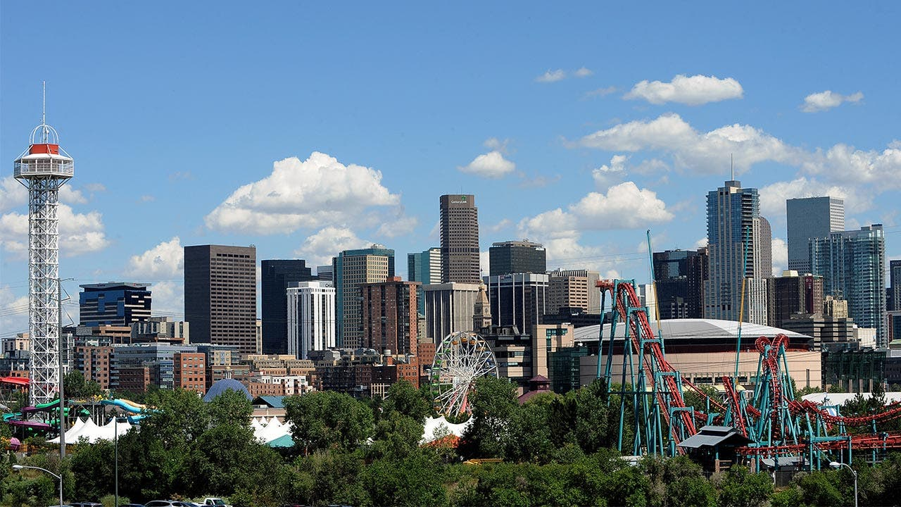 Downtown Denver and Elitch Gardens