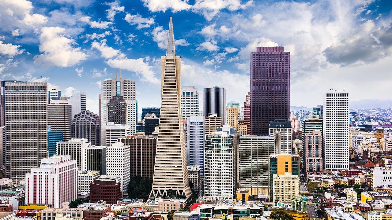 San Francisco skyline with Transamerica Pyramid