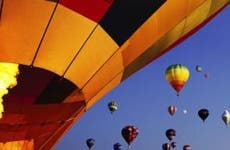 Hot-air balloons going up
