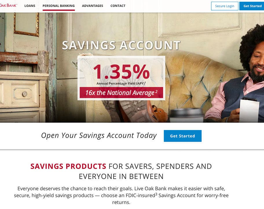 live oak bank s high yield savings account crushes the competition