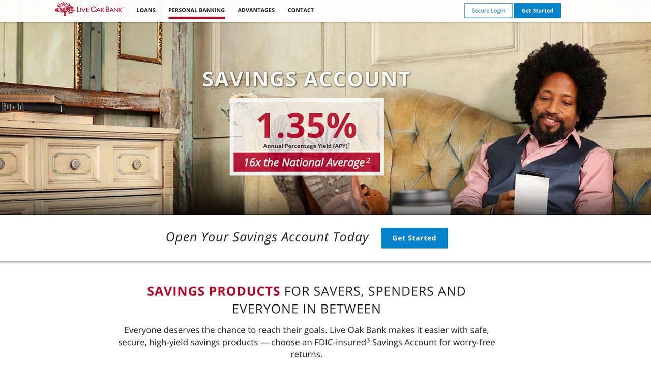 Live Oak Bank's high-yield savings account crushes the competition