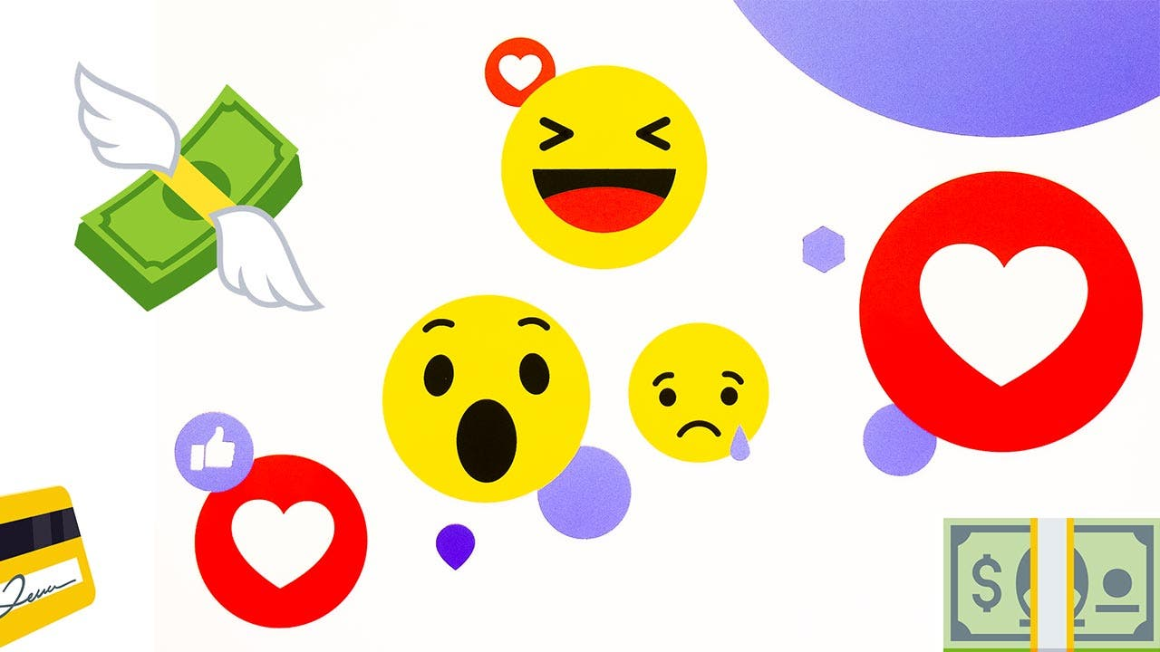 A variety of popular emojis