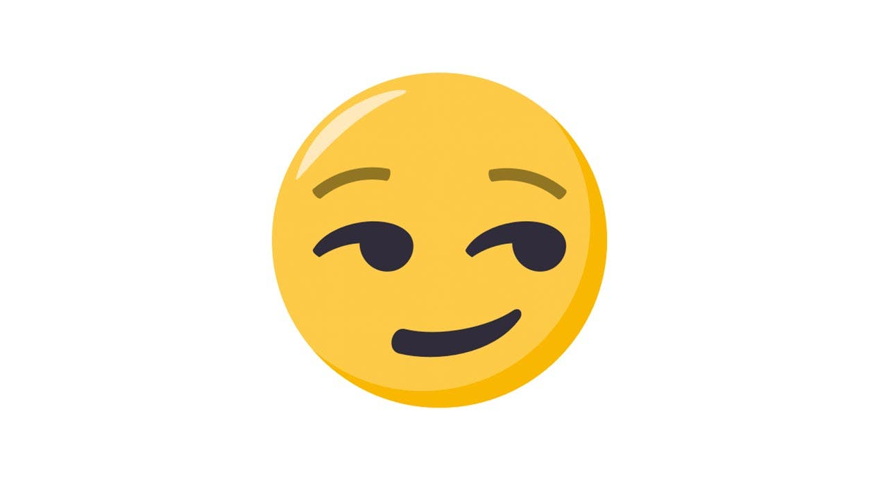 Smirk emoji