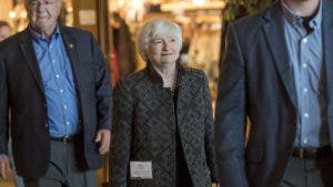 Janet Yellen walking