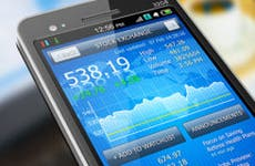 Stock exchange on phone © Scanrail - Fotolia.com