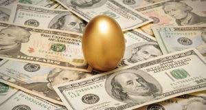 Golden egg on money © Balefire/Shutterstock.com